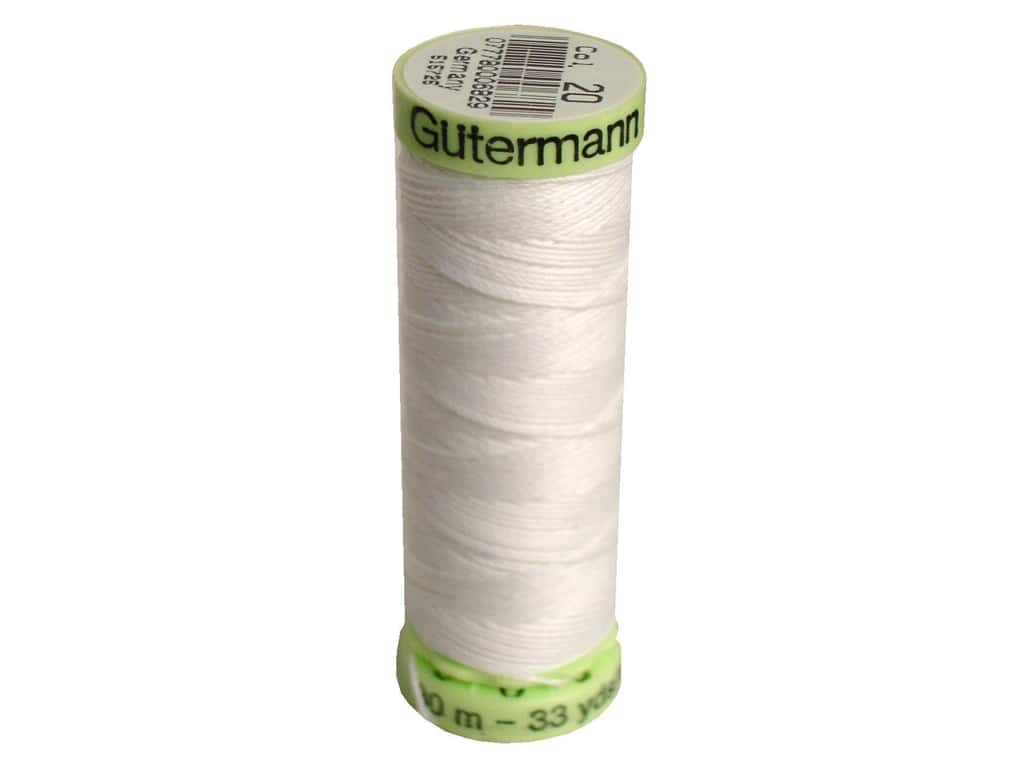 Gutermann Top Stitch Heavy Duty Thread 33 yd. #20 Nu White