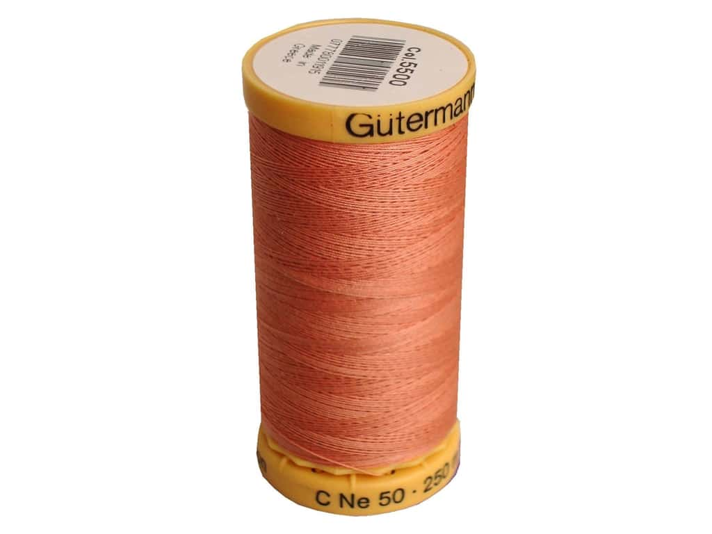Gutermann 100% Natural Cotton Sewing Thread 273 yd. #5500 Coral Rose