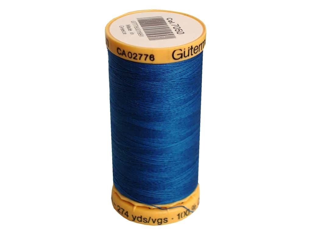 Gutermann 100% Natural Cotton Sewing Thread 273 yd. #7050 Blue