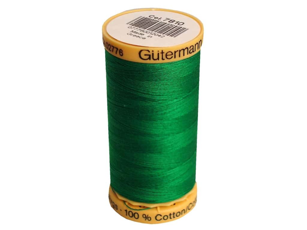 Gutermann 100% Natural Cotton Sewing Thread 273 yd. #7810 Spearmint