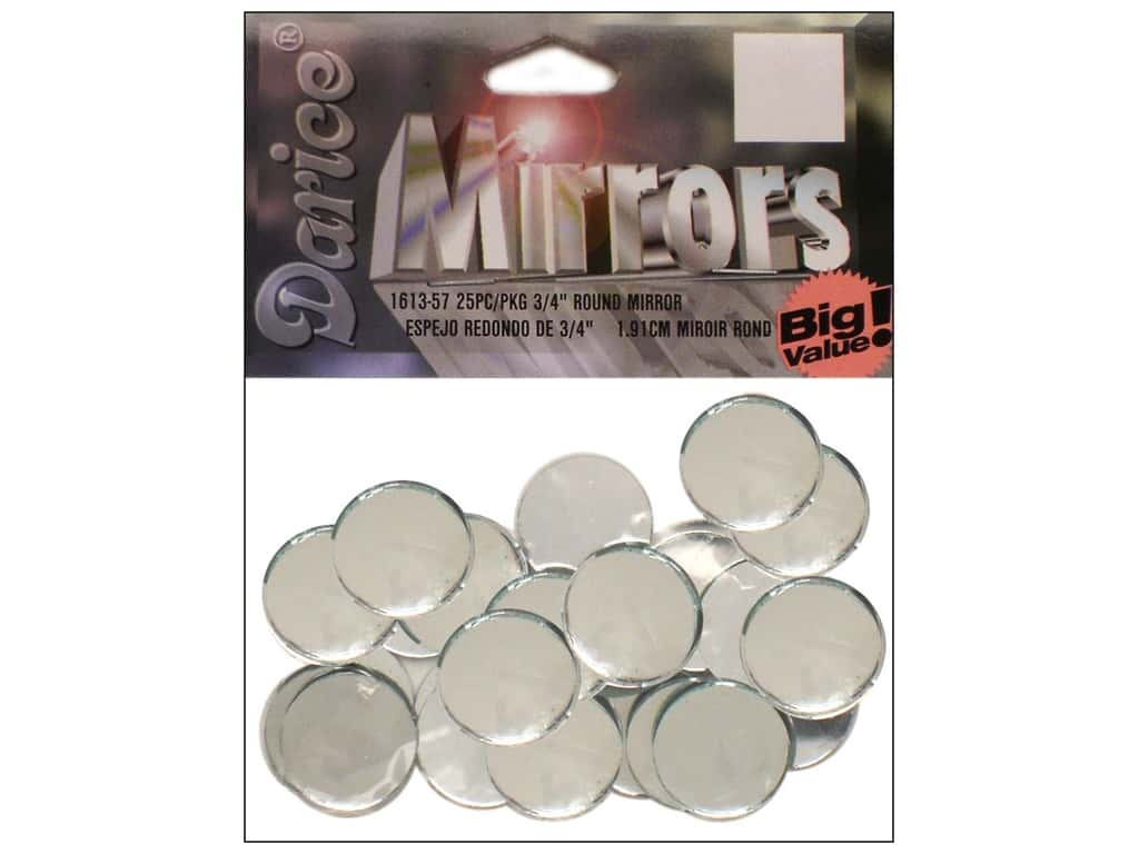 Darice Mirrors Big Value Round 3/4 in. 25 pc.