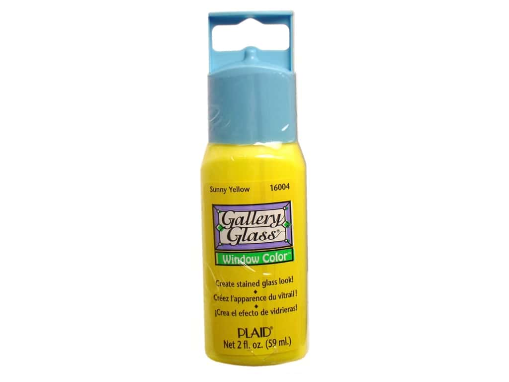 Plaid Gallery Glass Window Color 2 oz. Sunny Yellow