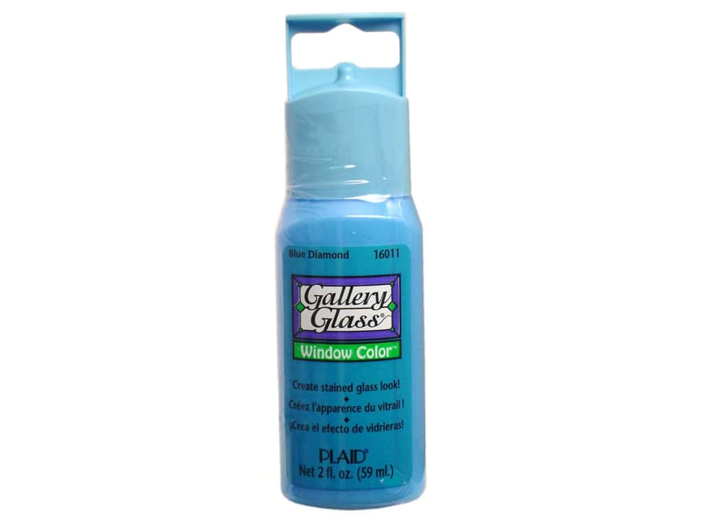 Plaid Gallery Glass Window Color 2 oz. Blue Diamond