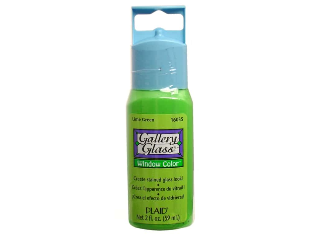 Plaid Gallery Glass Window Color 2 oz. Lime Green