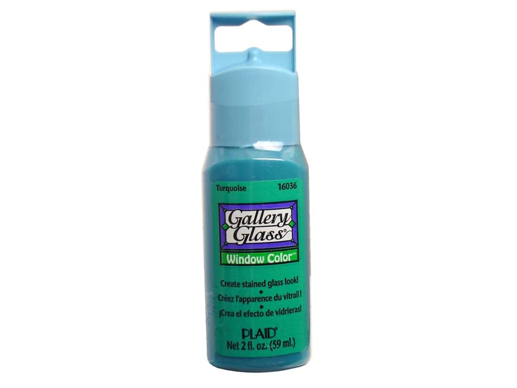 Plaid Gallery Glass Window Color 2 oz. Turquoise
