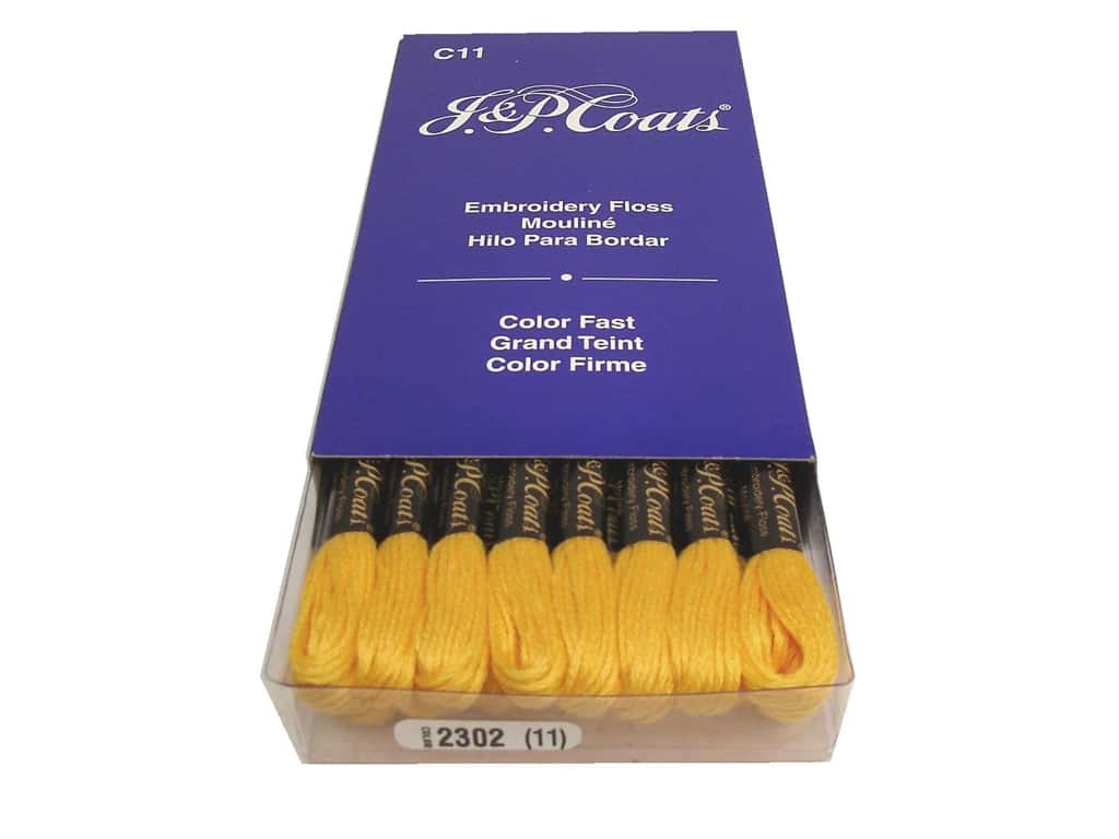J & P Coats Six-Strand Embroidery Floss #2302 Orange Light (24 skeins)