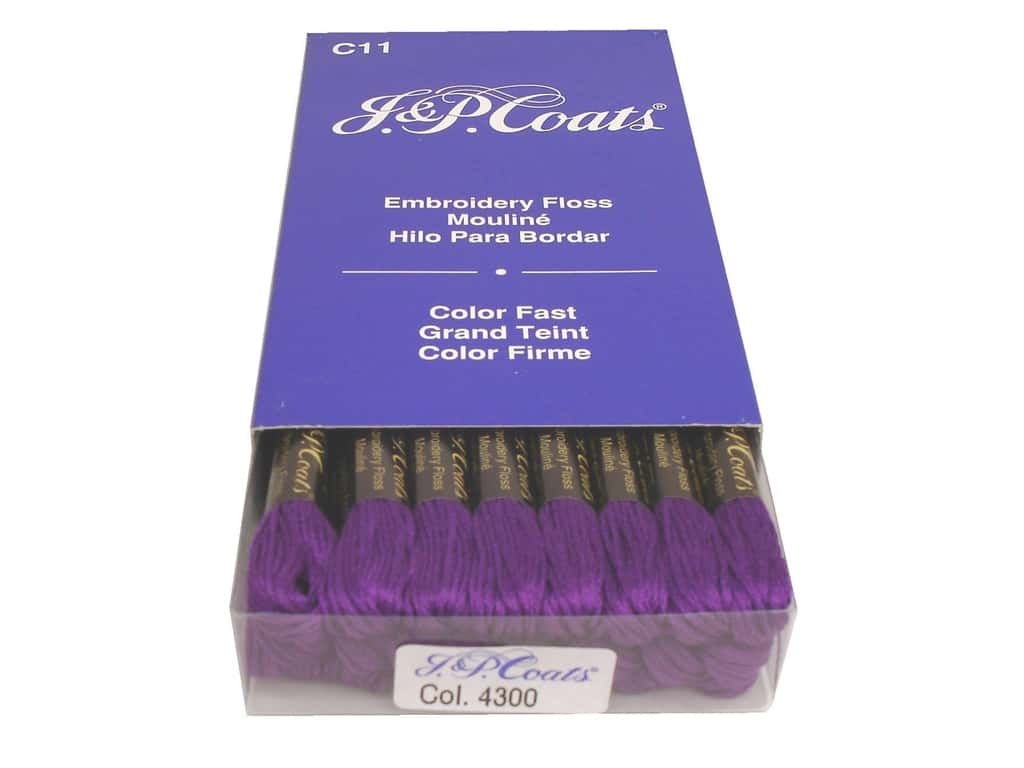 J & P Coats Six-Strand Embroidery Floss #4300 Lavender Very Dark (24 skeins)