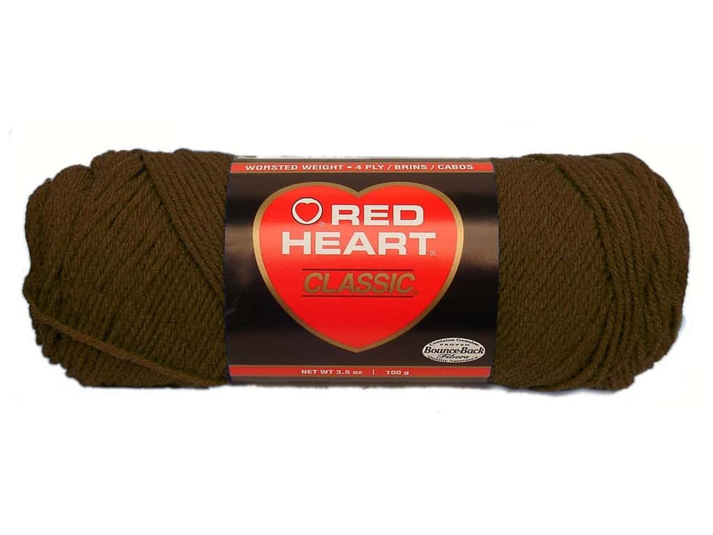 Red Heart Classic Yarn 190 yd. #365 Coffee