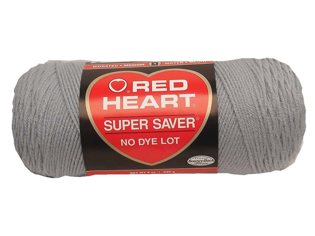 Red Heart Super Saver Yarn 364 yd. #0341 Light Grey