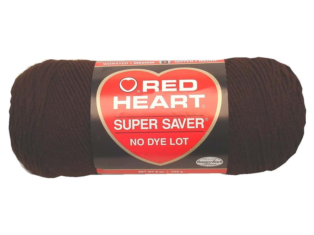Red Heart Super Saver Yarn 364 yd. #0365 Coffee