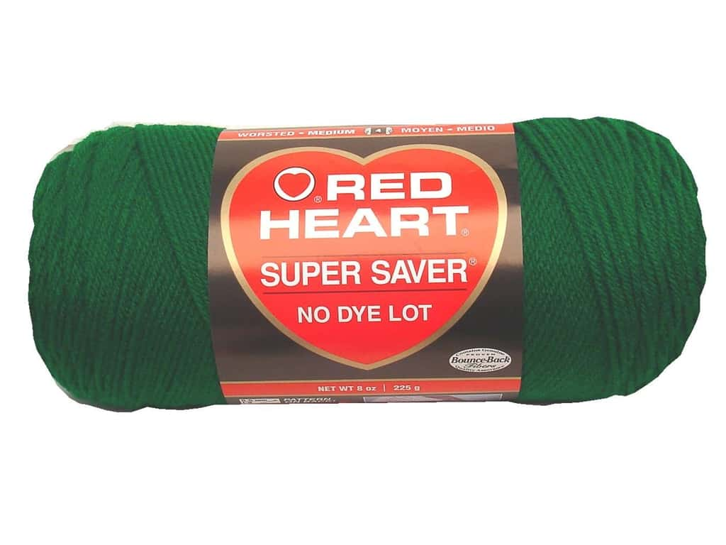 Red Heart Super Saver Yarn 364 yd. #0368 Paddy Green