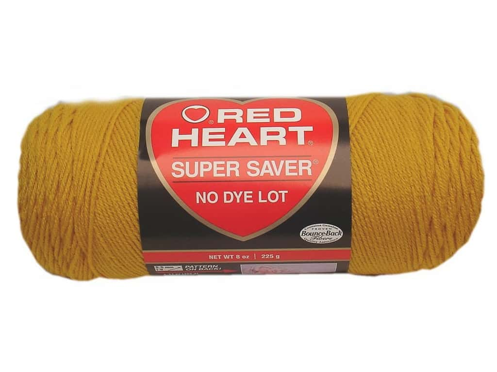 Red Heart Super Saver Yarn 364 yd. #0321 Gold
