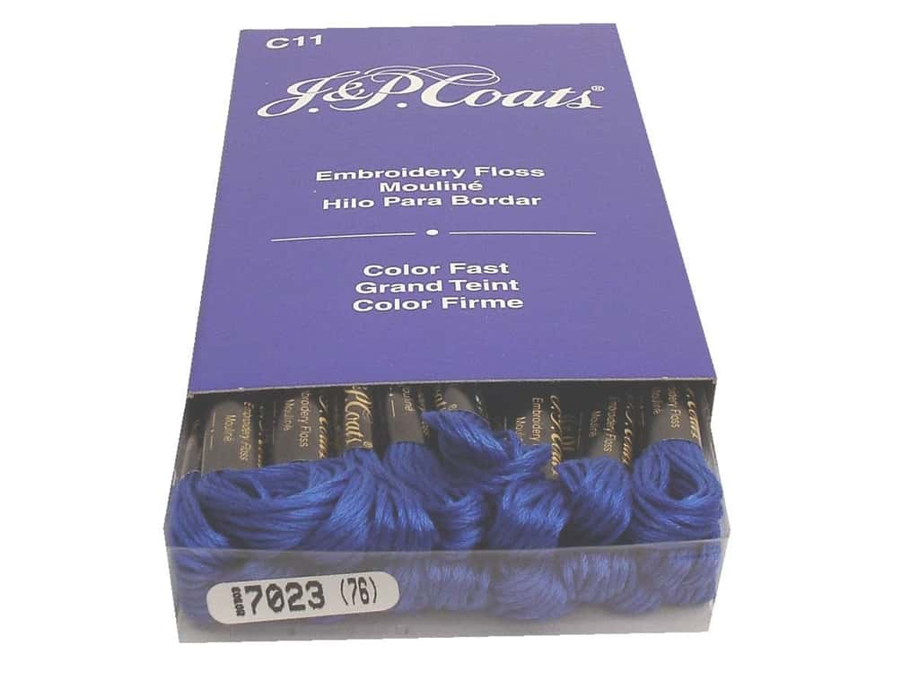 J & P Coats Six-Strand Embroidery Floss #7023 Medium Blue (24 skeins)