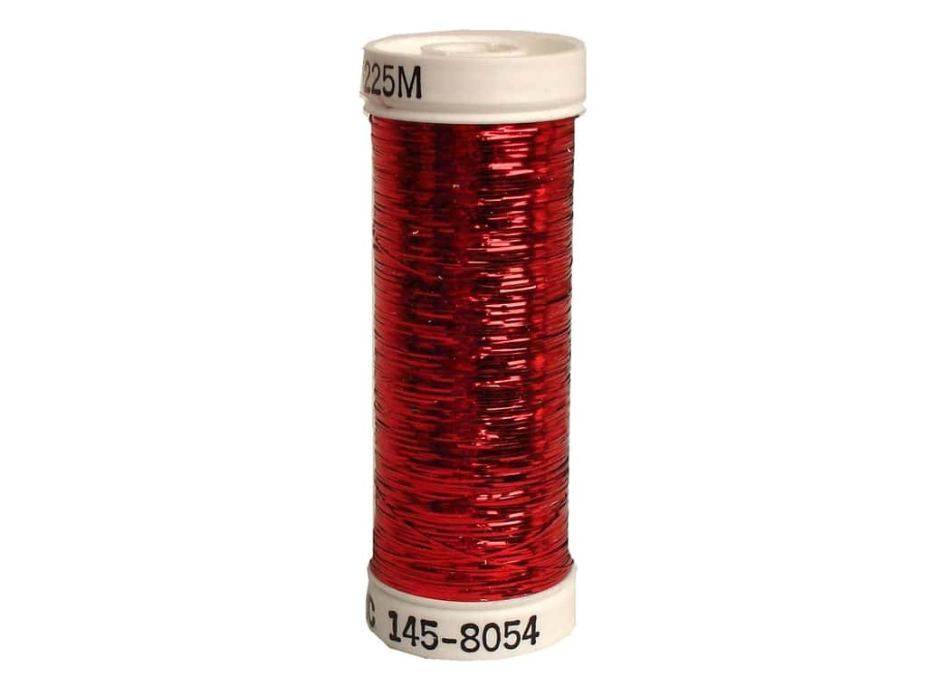 Sulky Silver Metallic Thread 250 yd. #8054 Red