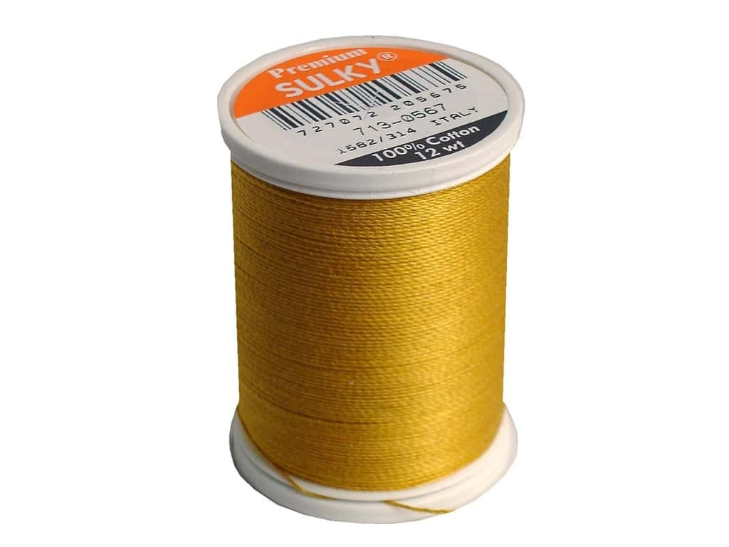 Sulky Cotton Thread 12 wt. 330 yd. #0567 Butterfly Gold