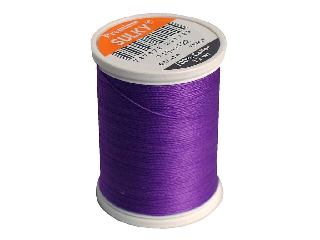 Sulky Cotton Thread 12 wt. 330 yd. #1122 Purple