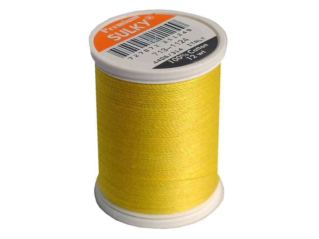 Sulky Cotton Thread 12 wt. 330 yd. #1124 Sun Yellow