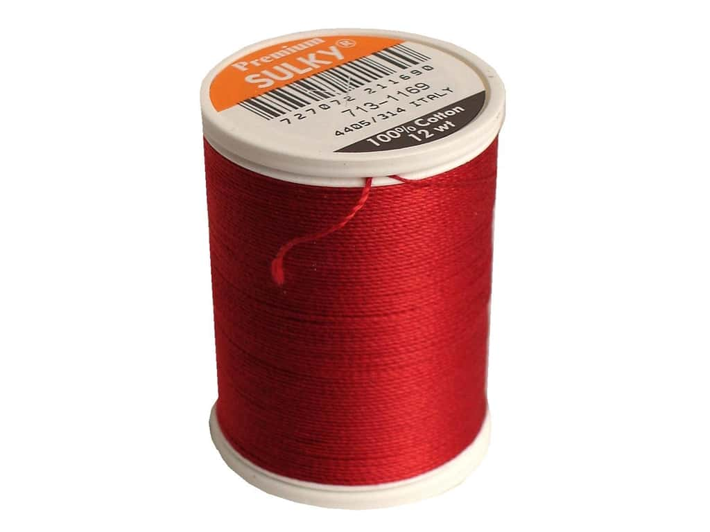 Sulky Cotton Thread 12 wt. 330 yd. #1169 Bayberry Red