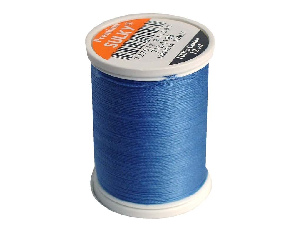 Sulky Cotton Thread 12 wt. 330 yd. #1198 Dusty Navy