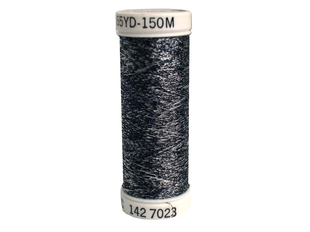 Sulky Original Metallic Thread 165 yd. #7023 Black/Silver