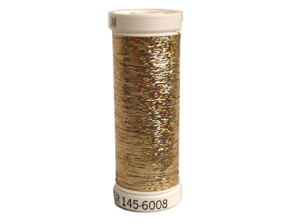 Sulky Holoshimmer Metallic Thread 250 yd. #6008 Yellow Gold