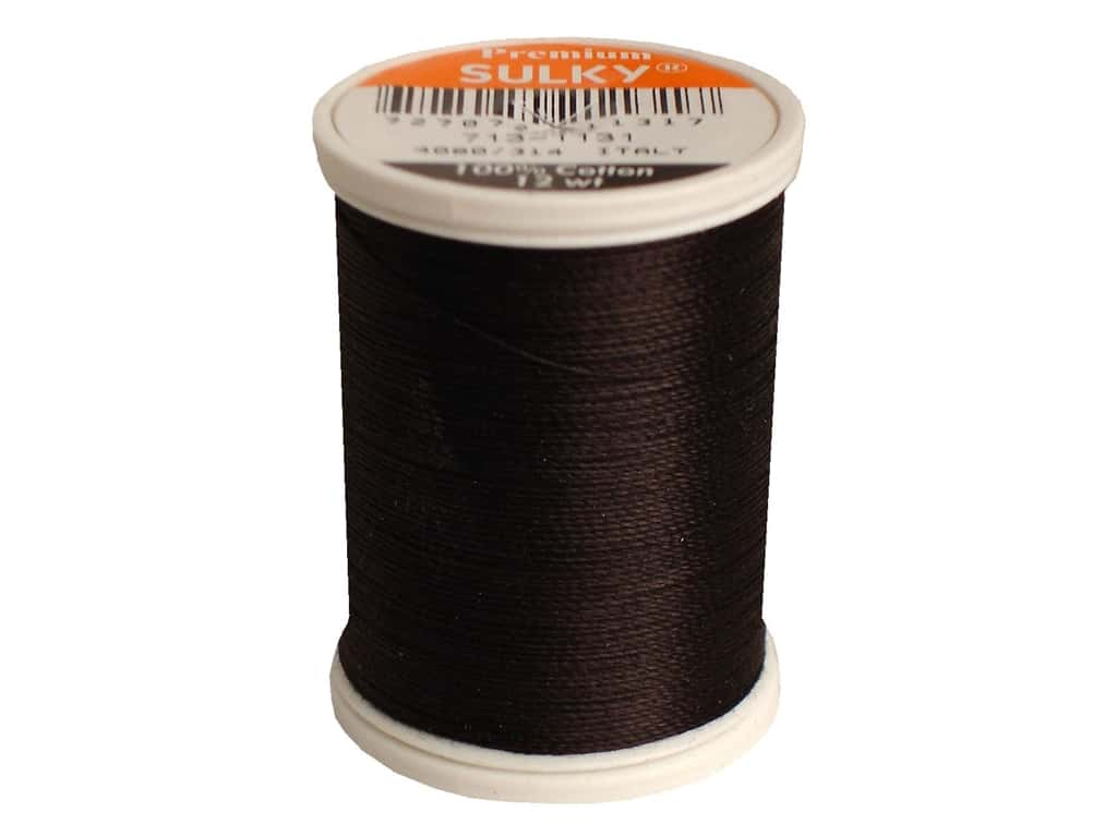 Sulky Cotton Thread 12 wt. 330 yd. #1131 Cloister Brown