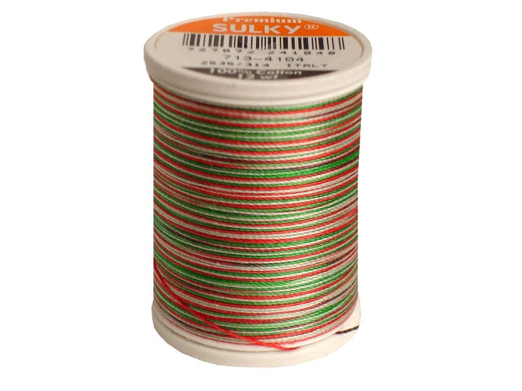 Sulky Blendables Cotton Thread 12 wt. 330 yd. #4104 Christmas Trio