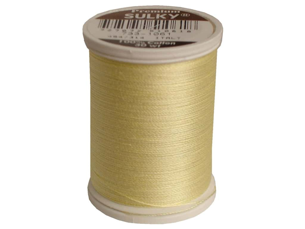 Sulky Cotton Thread 30 wt. 500 yd. #1061 Pale Yellow