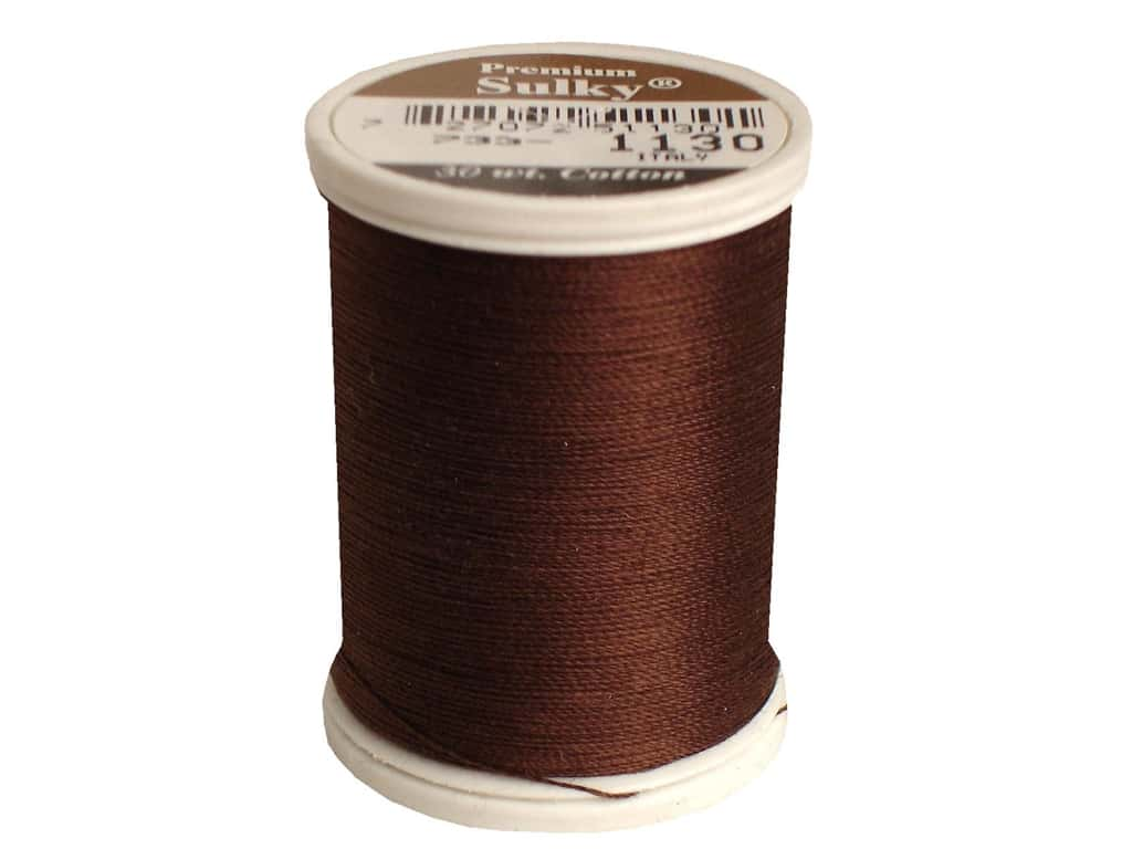 Sulky Cotton Thread 30 wt. 500 yd. #1130 Dark Brown