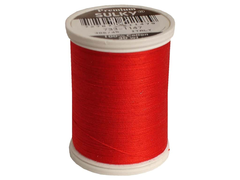 Sulky Cotton Thread 30 wt. 500 yd. #1147 Christmas Red