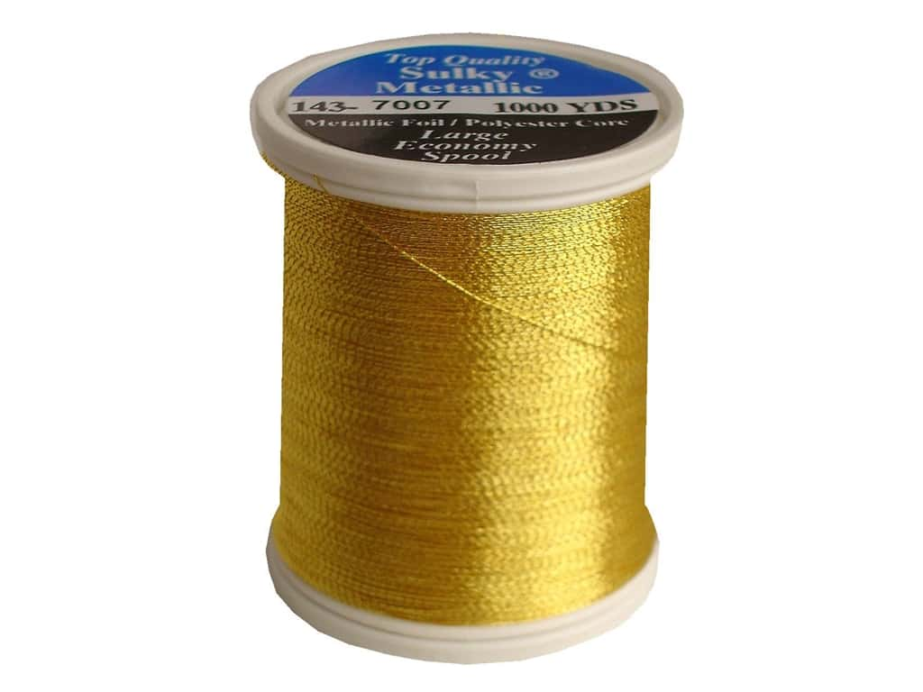 Sulky Original Metallic Thread 1000 yd. #7007 Gold