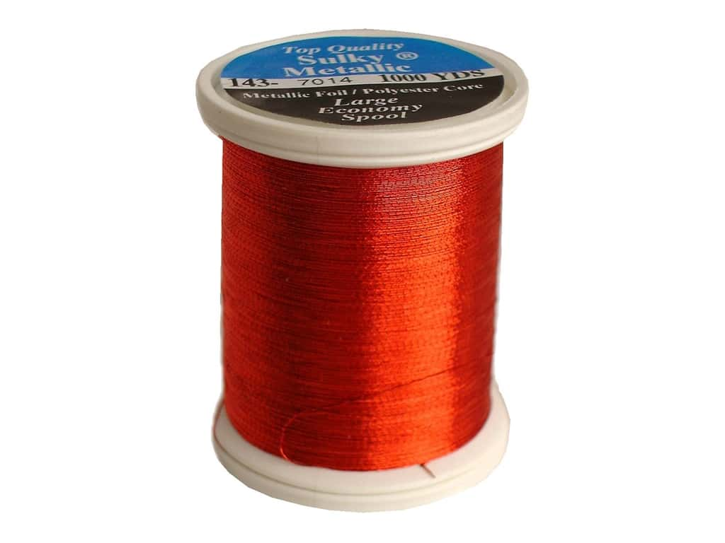 Sulky Original Metallic Thread 1000 yd. #7014 Christmas Red