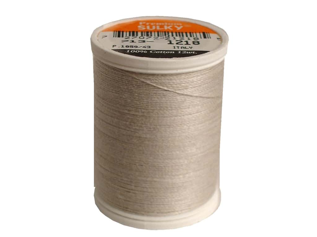 Sulky Cotton Thread 12 wt. 330 yd. #1218 Silver Grey