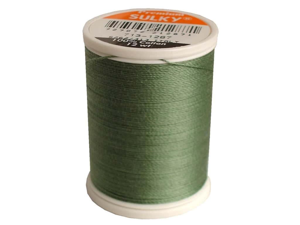 Sulky Cotton Thread 12 wt. 330 yd. #1287 French Green