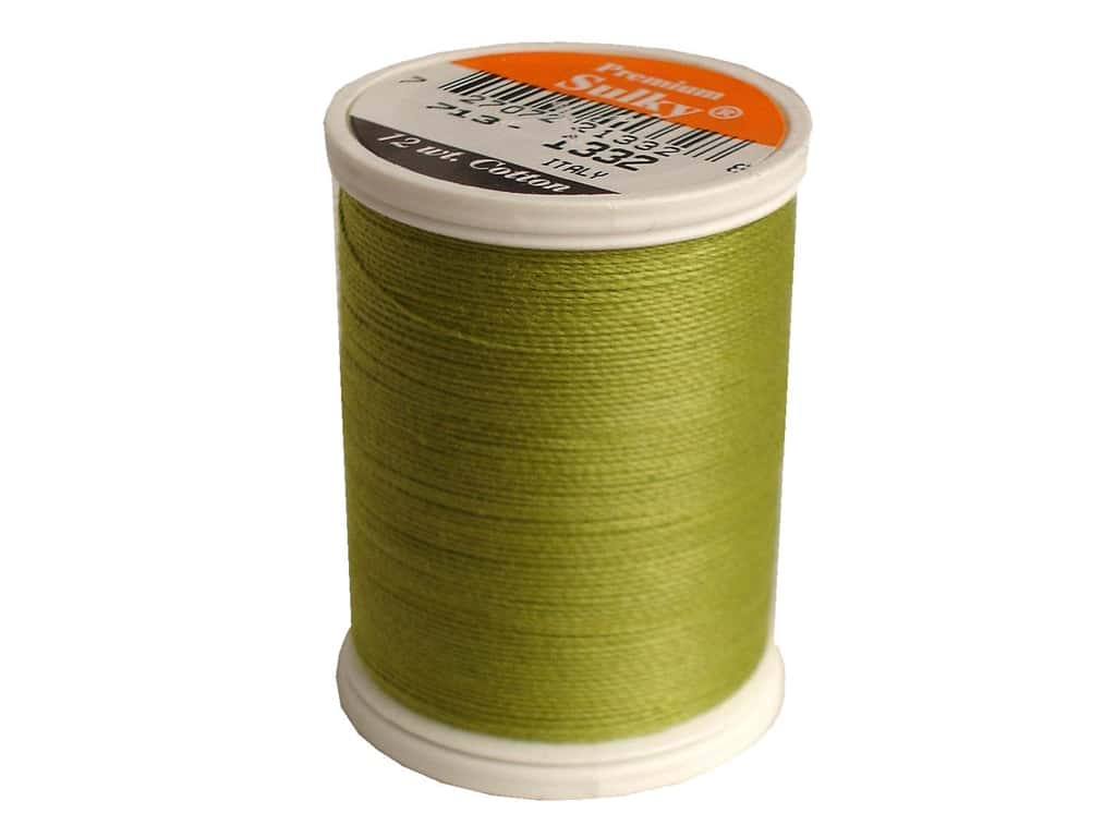 Sulky Cotton Thread 12 wt. 330 yd. #1332 Deep Chartreuse