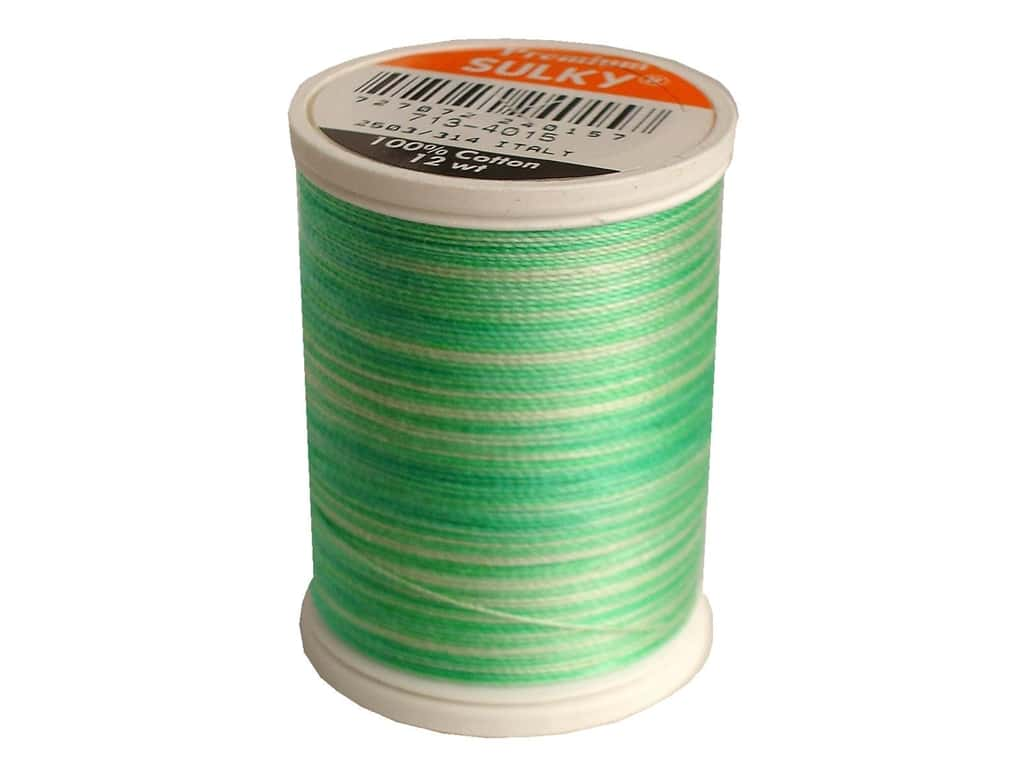 Sulky Blendables Cotton Thread 12 wt. 330 yd. #4015 Cool Waters