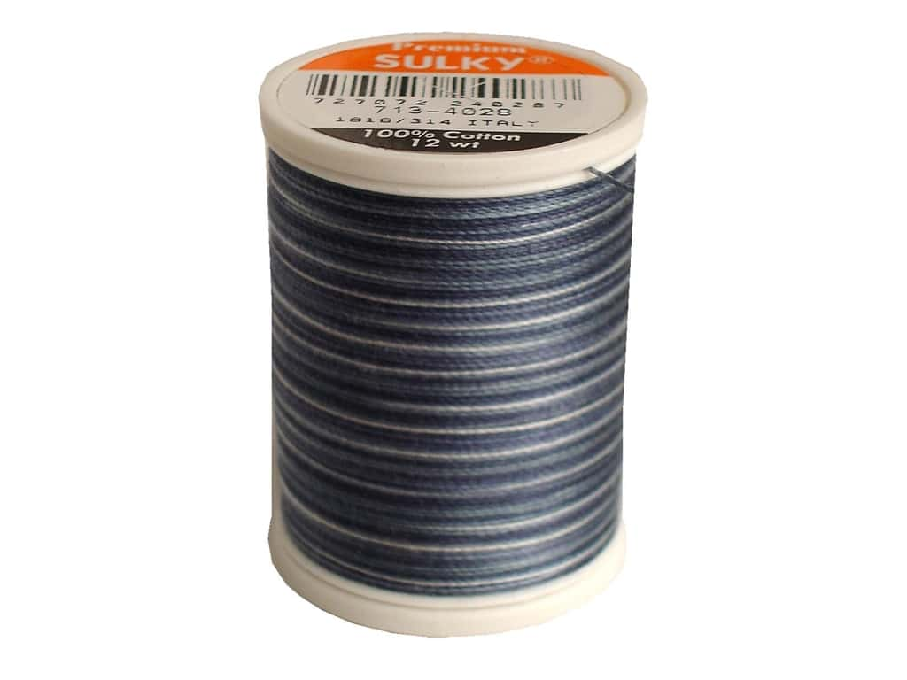 Sulky Blendables Cotton Thread 12 wt. 330 yd. #4028 Storm Clouds