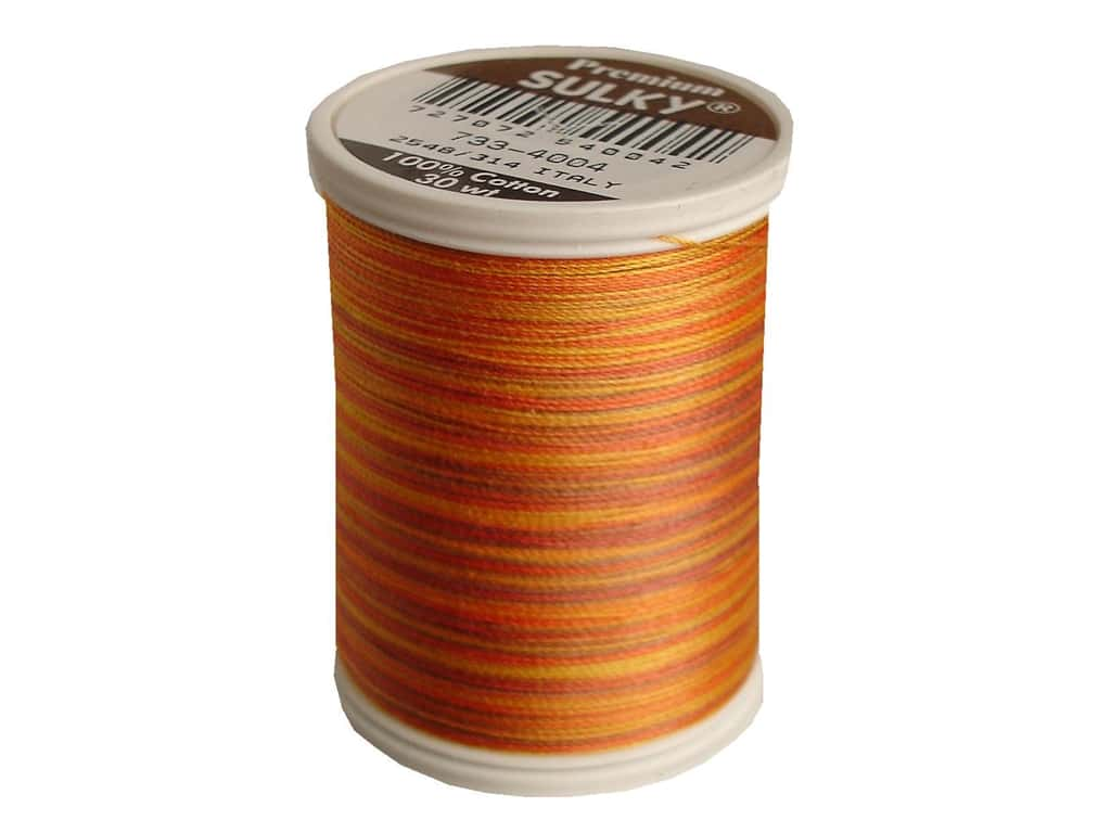 Sulky Blendables Cotton Thread 30 wt. 500 yd. #4004 Golden Flame