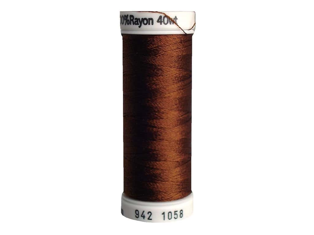 Sulky Rayon Thread 40 wt. 250 yd. #1058 Tawny Brown