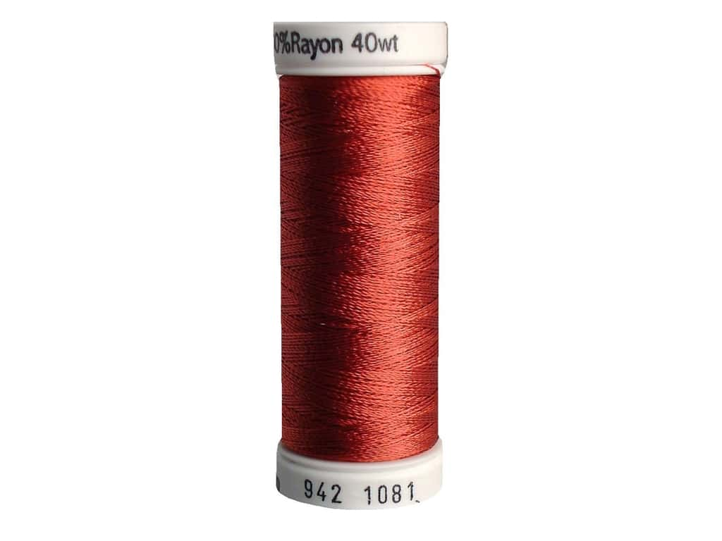 Sulky Rayon Thread 40 wt. 250 yd. #1081 Brick