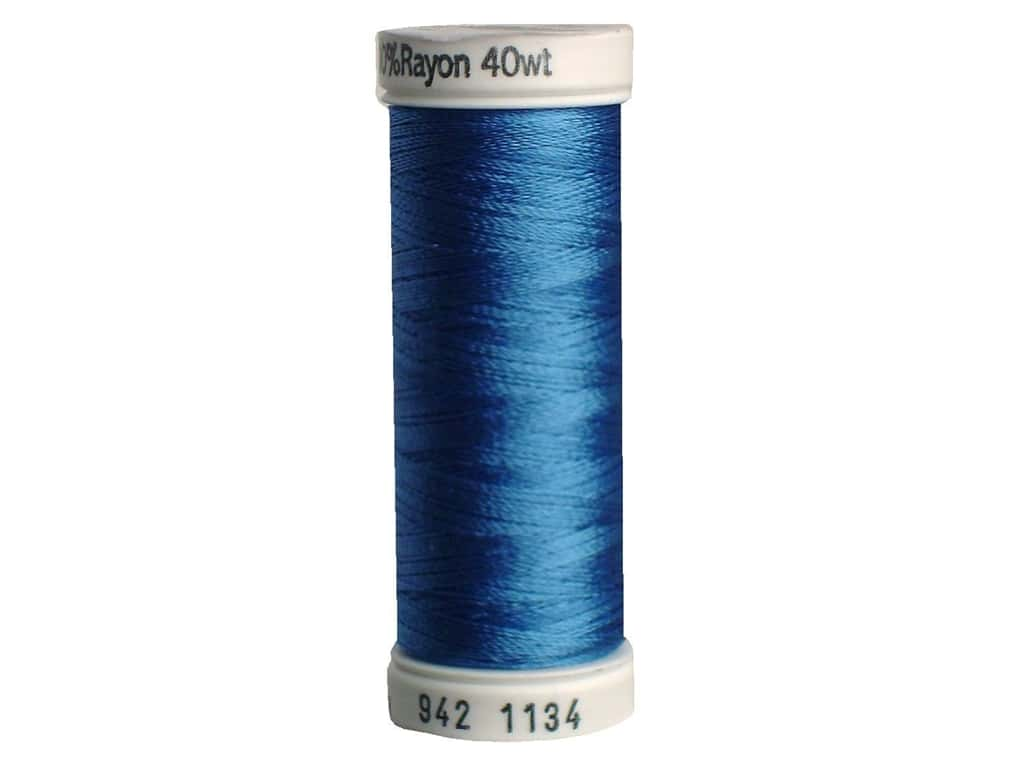 Sulky Rayon Thread 40 wt. 250 yd. #1134 Peacock Blue