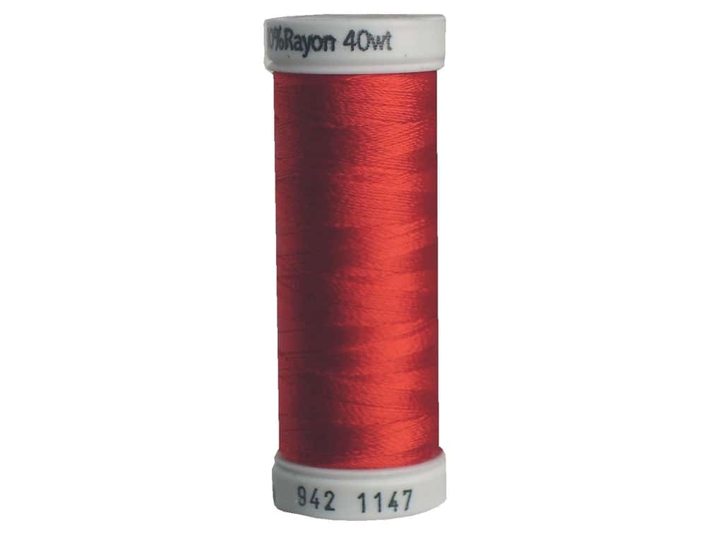 Sulky Rayon Thread 40 wt. 250 yd. #1147 Xmas Red