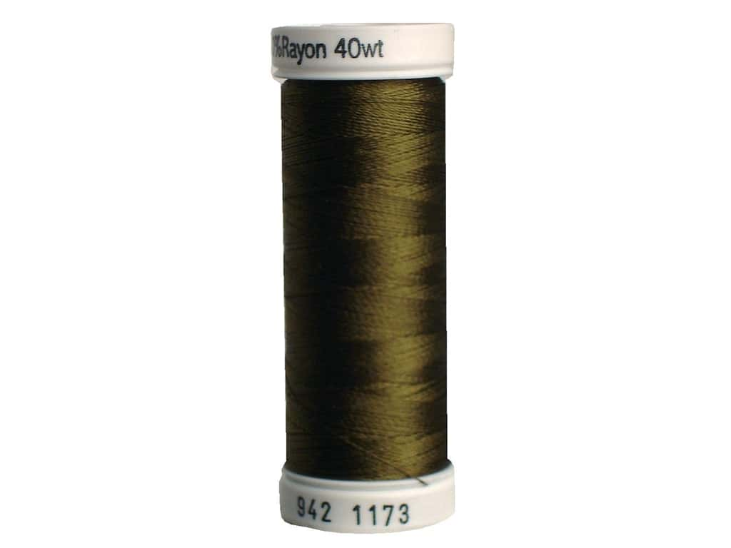 Sulky Rayon Thread 40 wt. 250 yd. #1173 Medium Army Green