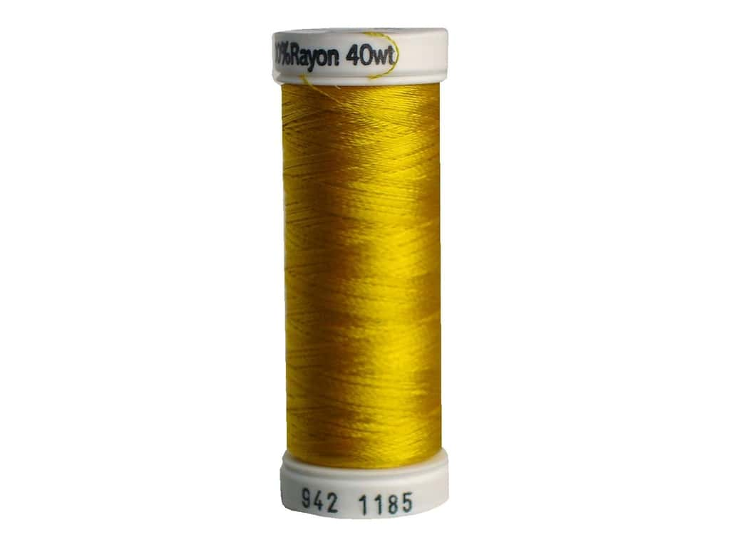Sulky Rayon Thread 40 wt. 250 yd. #1185 Golden Yellow