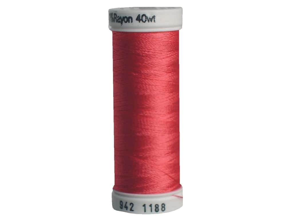 Sulky Rayon Thread 40 wt. 250 yd. #1188 Red Geranium