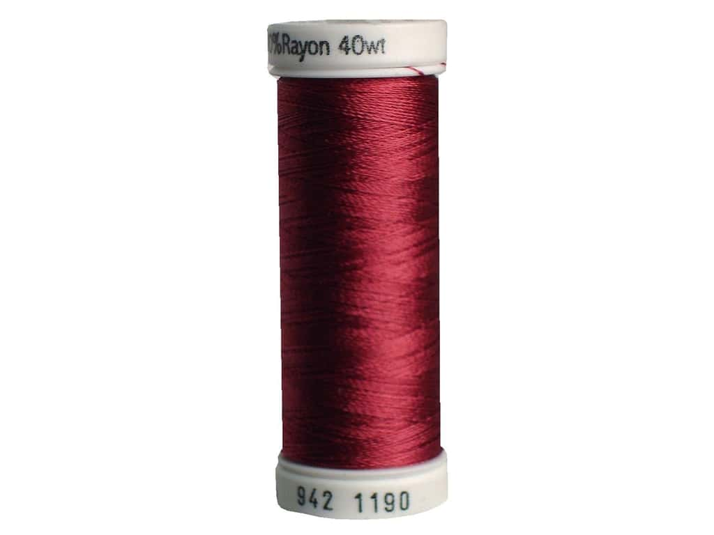 Sulky Rayon Thread 40 wt. 250 yd. #1190 Medium Burgundy