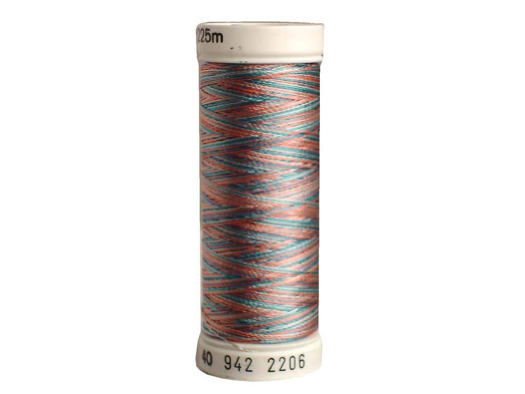 Sulky Rayon Thread 40 wt. 250 yd. #2206 Turquoise/Coral/Silver