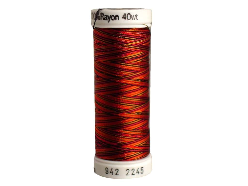Sulky Rayon Thread 40 wt. 250 yd. #2245 Old Gold/Black/Red