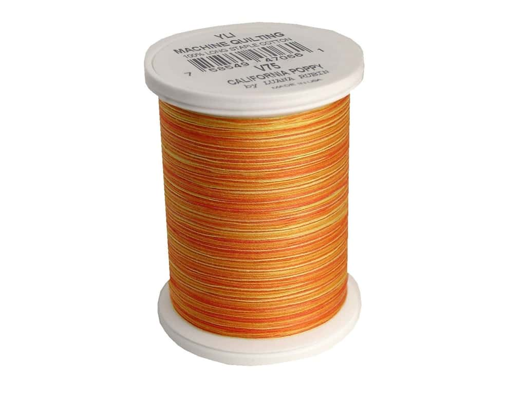 YLI Machine Quilting Thread 500 yd. #V75 California Poppy