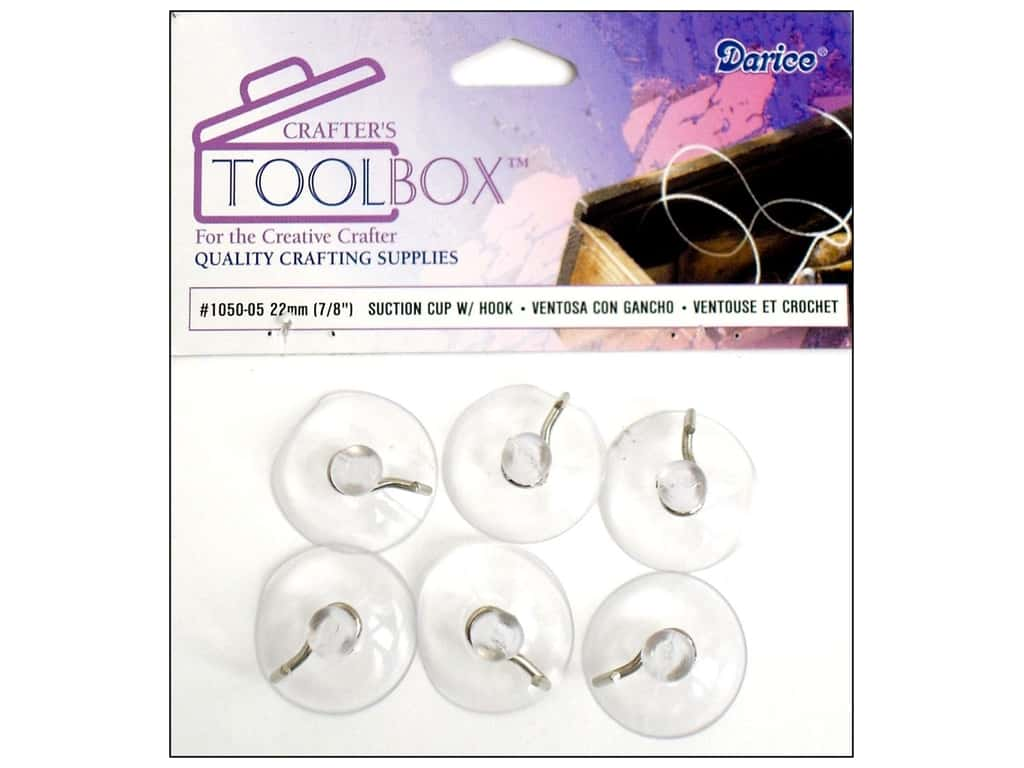 Darice Suction Cups with Hooks 7/8 in. 6 pc.